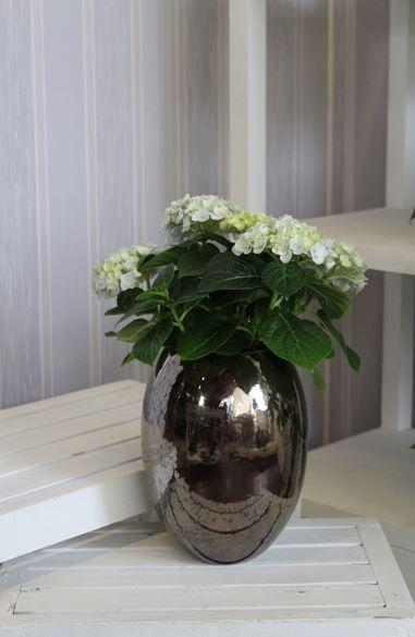 "Keramik-Vase ""Verlaufsoptik"" 18 x 24 cm braun"