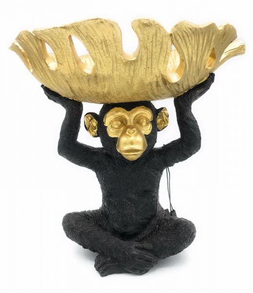 Colmore Schale Monkey Bowl schwarz-gold Höhe 25cm