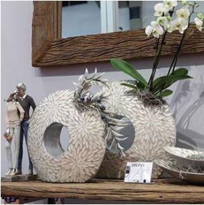 """Vase """"Capiz-Muschel"""" 37 cm Höhe"""