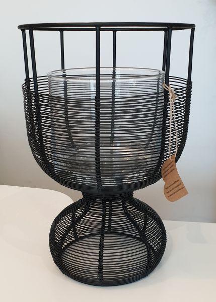 """Windlicht """"Iron"""" Glass S Höhe 30 cm"""