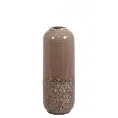 "Vase ""DULCI"" 37,5 cm Höhe Keramik alt rosa"