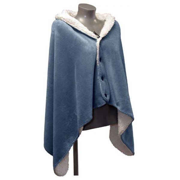 "Fleece-Umhang ""COBY"" 75 x 150 cm, copen blue"