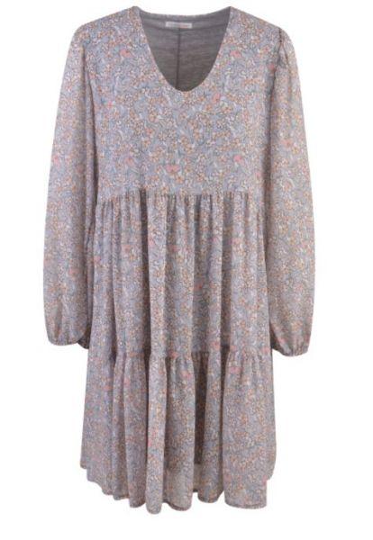 HeartKiss Damen Kleid Silver Grey Print