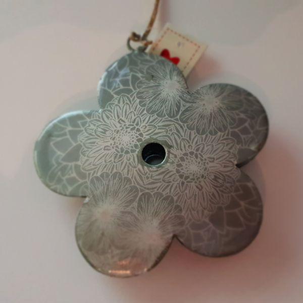 """Metallhänger """"Blume"""" grün, Durchmesser 10 cm"""
