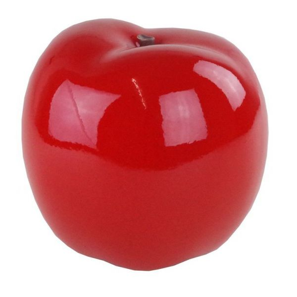 "Skulptur ""Apfel"" rot D. 18cm"