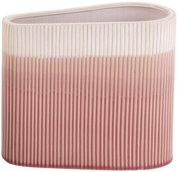 Present Time Vase Triangle Ceramic pink small