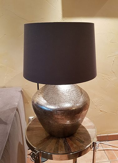 "Lampe ""Chitai"" Alu, Schirm Taupe 66cm Höhe"