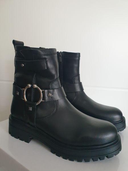 ANNƎ Shoes Damen Biker Booties Black
