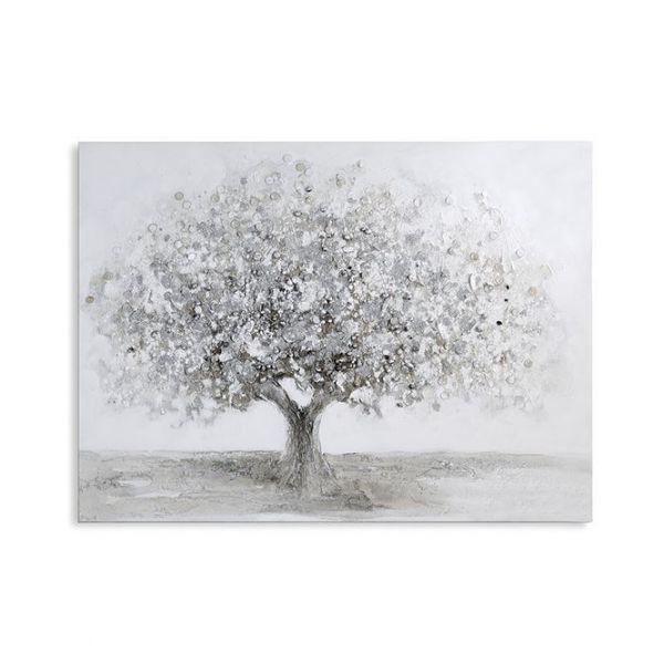 "Ölbild ""Big Tree"" aus Leinen/Holz/Metall 90 x 120 cm"