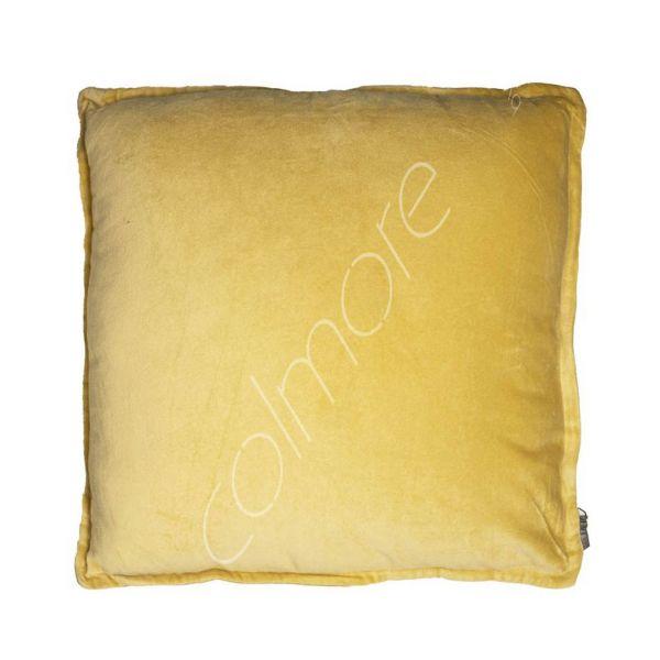 Colmore Dekokissen Samt Gelb 50 x 50 cm