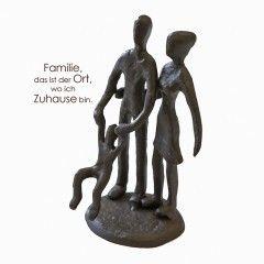 "Skukptur ""Eltern mit Kind"" Mini Design"