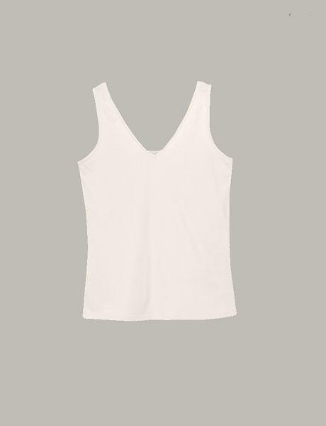 Summum Woman Top Luxury Basics cremefarbend