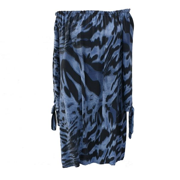 D-Style Bluse im Zebra-Look One-Size