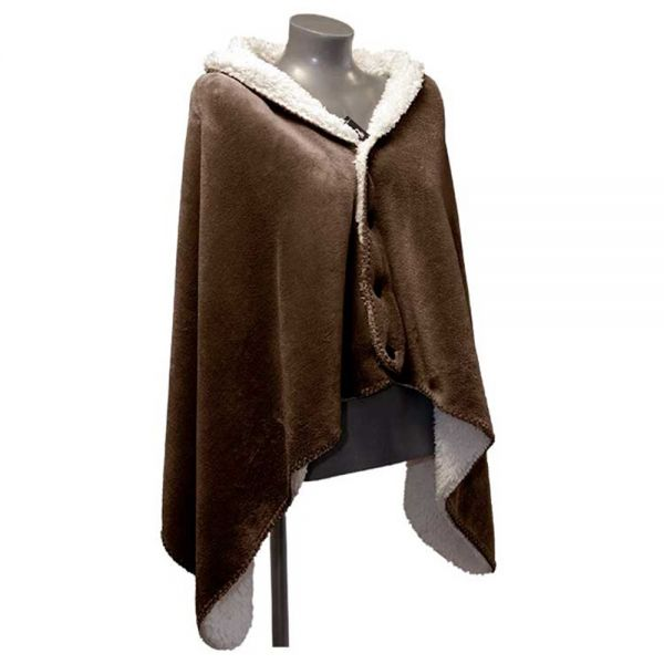 """Fleece-Umhang """"COBY"""" 75 x 150 cm Farbe bison brown"""