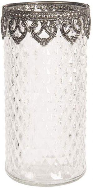 Clayre & Eef Teelichthalter Ø 8x16 Weiß cm