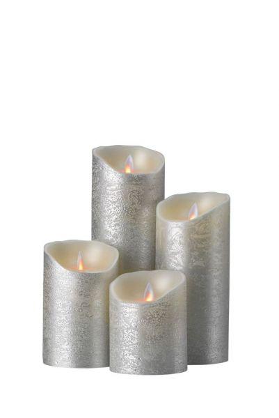 sompex flame led echtwachs kerze silber fernbedienbar. Black Bedroom Furniture Sets. Home Design Ideas