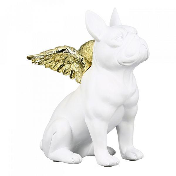 """Casablanca Figur """"Flying Bulli"""" weiß aus Poly mit goldfarbenen Flügel"""