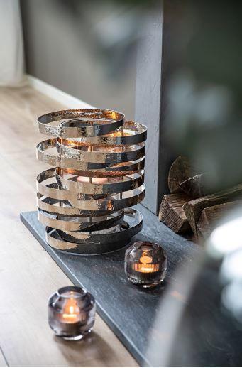 Windlicht MIRAGE mit Glas (Teelichthalter exklusiv)