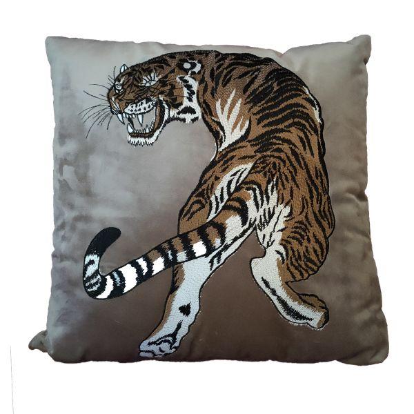 "Colmore Kissen ""TIGER"" braun 50 x 50 cm"