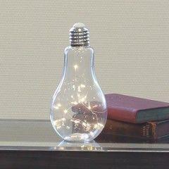 """Leuchte """"Glühbirne"""" Höhe 22 cm"""