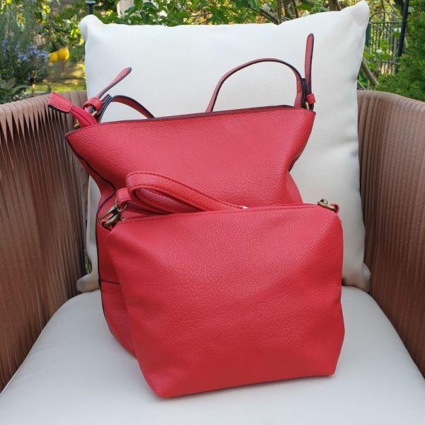 Eternel Tasche - Damentasche Bag mit Clutch in Rot