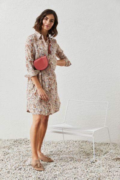 MILANO ITALY Damen Kleid, Peach Print