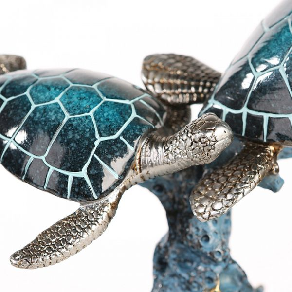 """Casablanca Schildkröten """"Josie"""" Poly blau-silber auf Korallenbasis"""