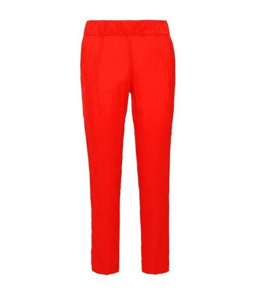 Summum Woman Hose Pantalon Crêpe Viskose Scarlett Red