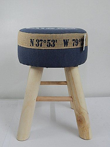 "Hocker ""Life at the Beach"" blau, 40 cm Höhe"