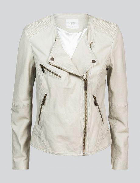 Summum Woman Biker Lederjacke Weiß