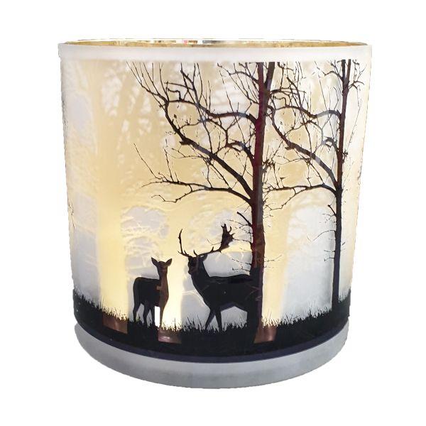 Colmore Dekorativer Weihnachtsglas schwarz-gold 20x20 cm