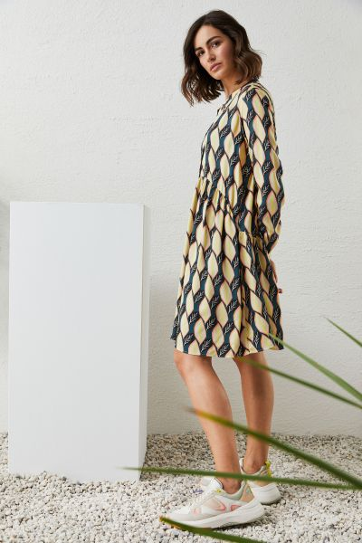 MILANO ITALY Damen Kleid, Petrol Print