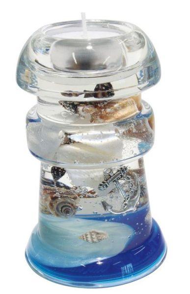 "Dreamlight Teelichtleuchter Hawai Mini ""Ocean"" Höhe 12 cm Ø 8 cm"