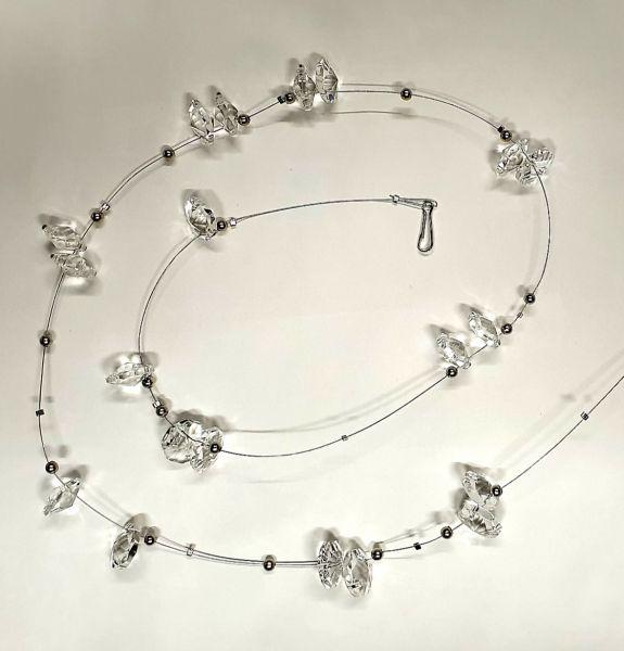 Deko-Girlande mit Kristall und Perlen, ca. 70 cm Länge