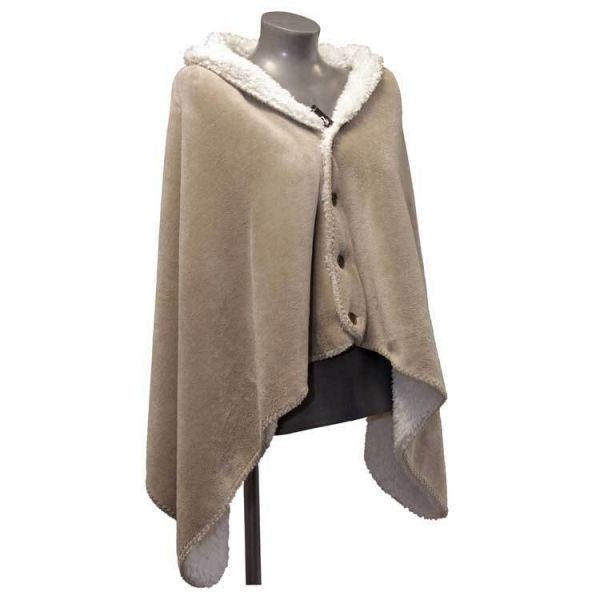 "Fleece-Umhang ""COBY"" 75 x 150 cm, stone"